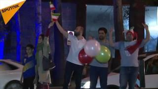 جشن صعود ایران به جام جهانی فوتبال