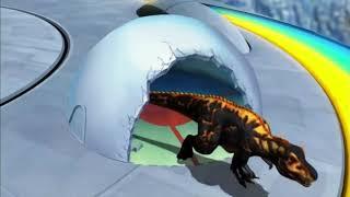 Dinosaur king black T-rex VS All Dinosaurs (eng)