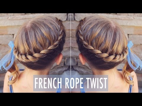 French Rope Twist ~ My 8 year old can do this cute hairstyle, and so can YOU!