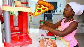Pretend Play Pizza Delivery & Cooking Food Kitchen Toy Set