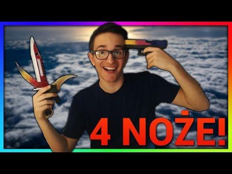 UNBOXING 4 NOŻY, GLOCKA FADE I WIELE WIĘCEJ!