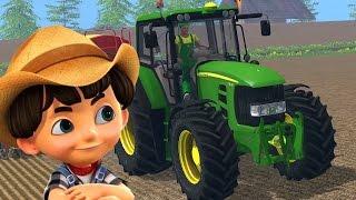 John Deere tractor - Tractor video for kids - Cartoon