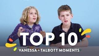 Top 10 Vanessa & Talbott Moments   Top 10   HiHo Kids