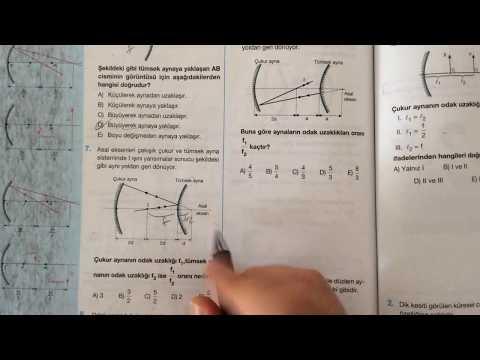Palme Fizik - Optik - Küresel Aynalar - Test 2