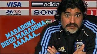 Ο Maradona ακούει το τραγούδι του Ύπο!