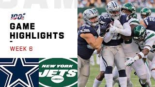 Cowboys vs. Jets Week 6 Highlights | NFL 2019