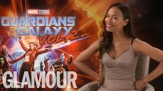 Zoe Saldana talks Beyoncé copying her and working with Chris Pratt | Glamour UK