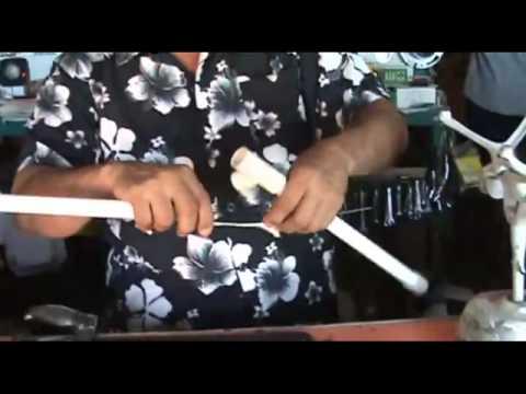 Fabricando Antena de tubo pvc digital Limando