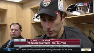 Roberto Luongo -- Florida Panthers at New Jersey Devils 01/09/2017