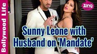 Sunny Leone Strikes a Pose with Husband, Daniel Weber on Mandate Magazine | Bollywood Life