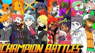 Evolution of Pokémon Champion Battles (1996-2016)