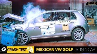 Volkswagen VW Golf 7 - Car CRASH TEST Latin Ncap 2017 ★★★★★  [GOMMEBLOG]