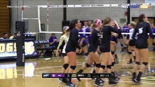 Volleyball vs. Holy Cross Highlights