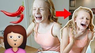 HOT CHiLLi PEPPER PRANK ON KiDS! 😥 **she cried**
