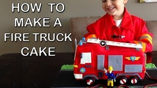 Fire Truck Cake HOW TO COOK THAT Fire Engine Birthday Cake