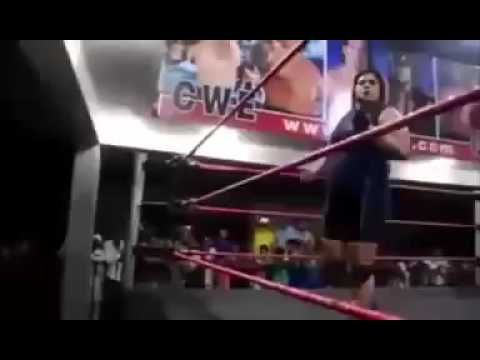 Open challenge by Pakistani wrestler a common Indian girl in salwar suit shows her place