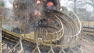 The Wicker Man at Alton Towers | First Look @ The Wicker Man | Off-Ride Perspective