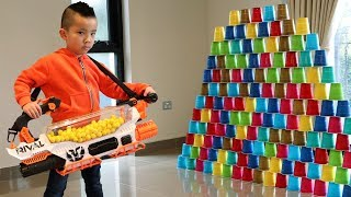 BIGGEST NERF Rival Prometheus 200 Balls Automatic Blaster Test Fun With Ckn Toys