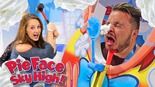 PIE FACE SKY HIGH CHALLENGE BATTLE MOM VS DAD!