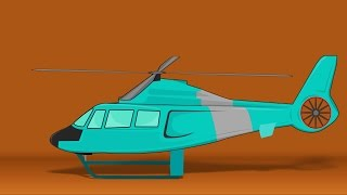 Helicopter | cartoon vehicles for children | passenger vehicles