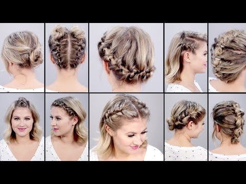 Xxx Mp4 10 SUPER EASY FAUX BRAIDED SHORT HAIRSTYLES Topsy Tail Edition 3gp Sex