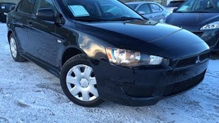 Used Black 2010 Mitsubishi Lancer CVT DE Review | Spruce Grove Alberta