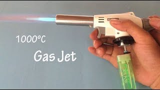 How to make a powerful Gas jet burner from lighter , up to 1000ºC , cool idea 2018