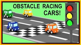 Cartoon Cars - OBSTACLE RACE with Car Crashes - Car Cartoons for kids - Children