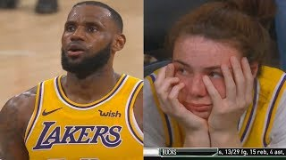LeBron James Chokes and Misses Both Free Throws vs Spurs in Overtime! Lakers vs Spurs Final Minutes