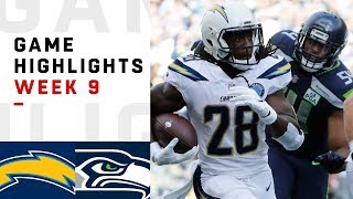 Chargers vs. Seahawks Week 9 Highlights   NFL 2018