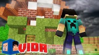 Minecraft : FURACÃO DESTRUIU NOSSA CASA !!! #123 (MINECRAFT VIDA )