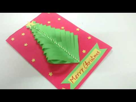 Easy Paper Christmas Tree Card Making Idea | How To | CraftLas