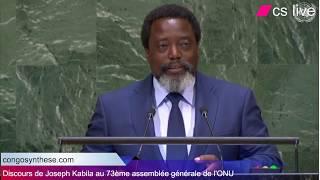 Discours de Joseph Kabila au 73ème Assemblée générale des Nations Unis 2018