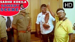 Sadhu Kokila made fool to Police | Bullet Prakash | Best Kannada Comedy Scenes