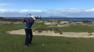The par 3  seventeenth hole at Tara Iti GC, New Zealand