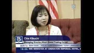 MIFF 2014 - Hikari Global Trading Co (Japan) interviewed by Bernama TV