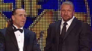 Triple H & Shawn Michales induct Mike Tyson into WWE Hall of Fame