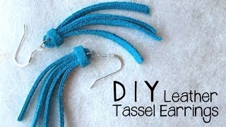 DIY Leather Tassel Earrings - Easy Jewelry Making Tutorial