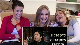 3 Idiots Silencers Speech Reaction By Foreigners | 3 Idiots Chatur Speech