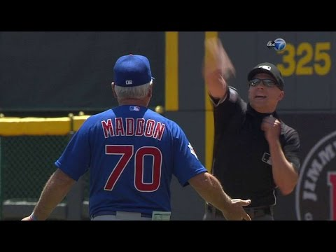 CHC@CIN: Maddon ejected after disputing balk call