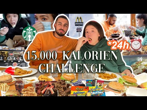 15.000 Kalorien Challenge in 24h 🥵 get ready for foodp n Adorable CAro