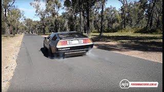DeLorean with Chev LS V8 conversion: 0-100km/h & engine sound