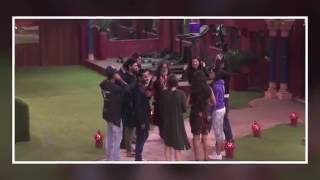 Swami om touches sunny Leone in big boss house