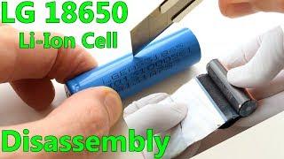 LG 18650 Li-Ion Cell Teardown and Explanation LGEAS31865 2200mAh