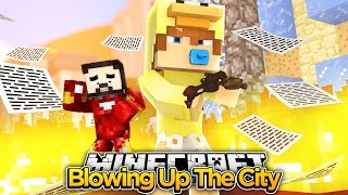 Minecraft WHOS YOUR DADDY - IRON MAN BLOWS UP JUMPZONE w/THE MINEVENGERS