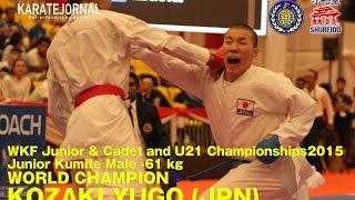 WKF2015 Junior Kumite Male -61 kg World champion KOZAKI YUGO (JPN)