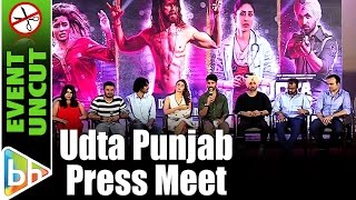 Udta Punjab Press Conference | Shahid Kapoor | Alia Bhatt | Diljit | Anurag Kashyap | Event Uncut