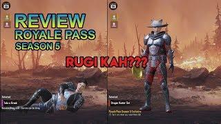 REVIEW ROYALE PASS SEASON 5 RUGI KAH??? - PUBG MOBILE INDONESIA