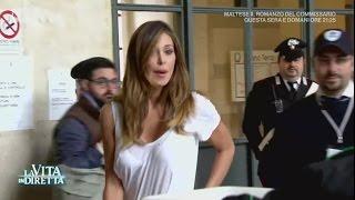 Tacco 12 e jeans aderente: lo show di Belen Rodriguez in tribunale - La Vita in Diretta 15/05/2017