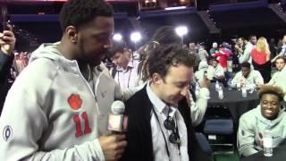TigerNet.com - Shadell Bell interviews random media member